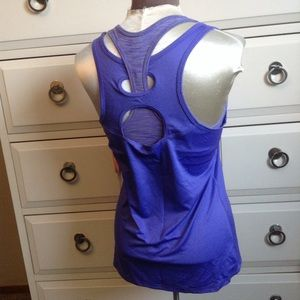 nwt LUCY synergy tank layered purple S